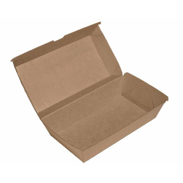 Snack Box / (Kb8)Large Brown Board (250Ctn)