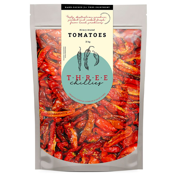 Semi Dried Tomatoes - Hickory Smoked (Canola Oil & Vinegar) - 2kg