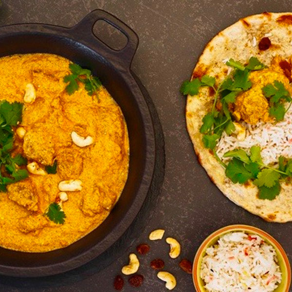 Chicken And Cashew Korma  (Served With Soft Fluffy Basmati Rice) Serves 1