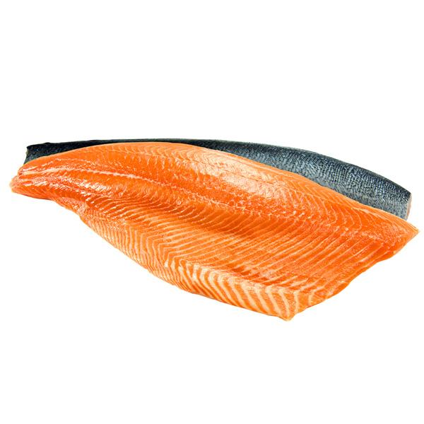 Fresh Salmon Atlantic Fillet Skin On Bone Out