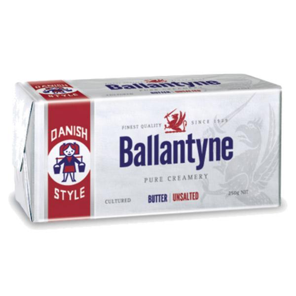Butter Block Unsalted 1kg - Ballantyne