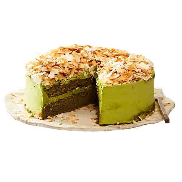 Matcha Dble Layer Cake W Toasted Coconut - 20cm