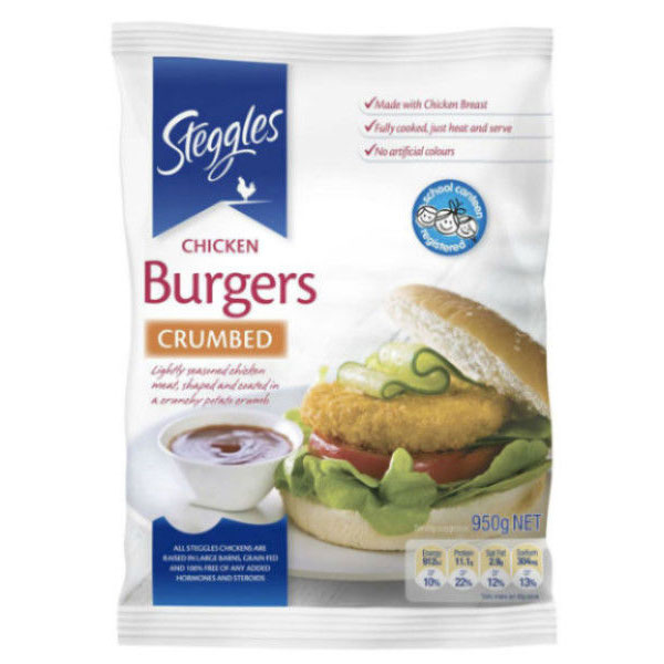 Steggles - Crumbed Chicken Burgers (5.7kg)