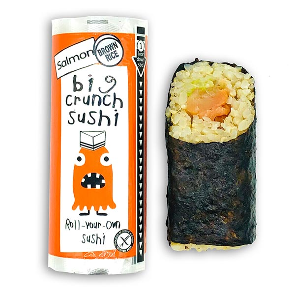 Big Crunch Roll - Smoked Salmon - Avocado (135g)