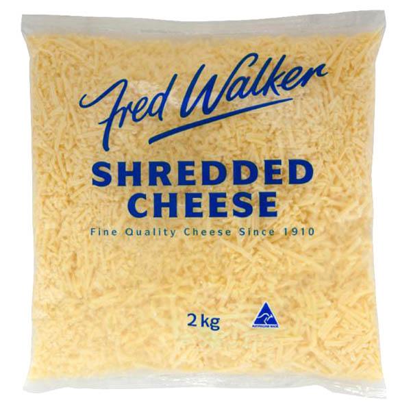Cheese Tasty Shredded 2kg (Fred Walker)