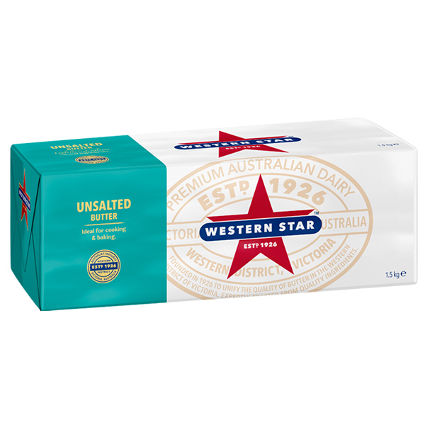Unsalted Butter 1.5kg (Western Star)