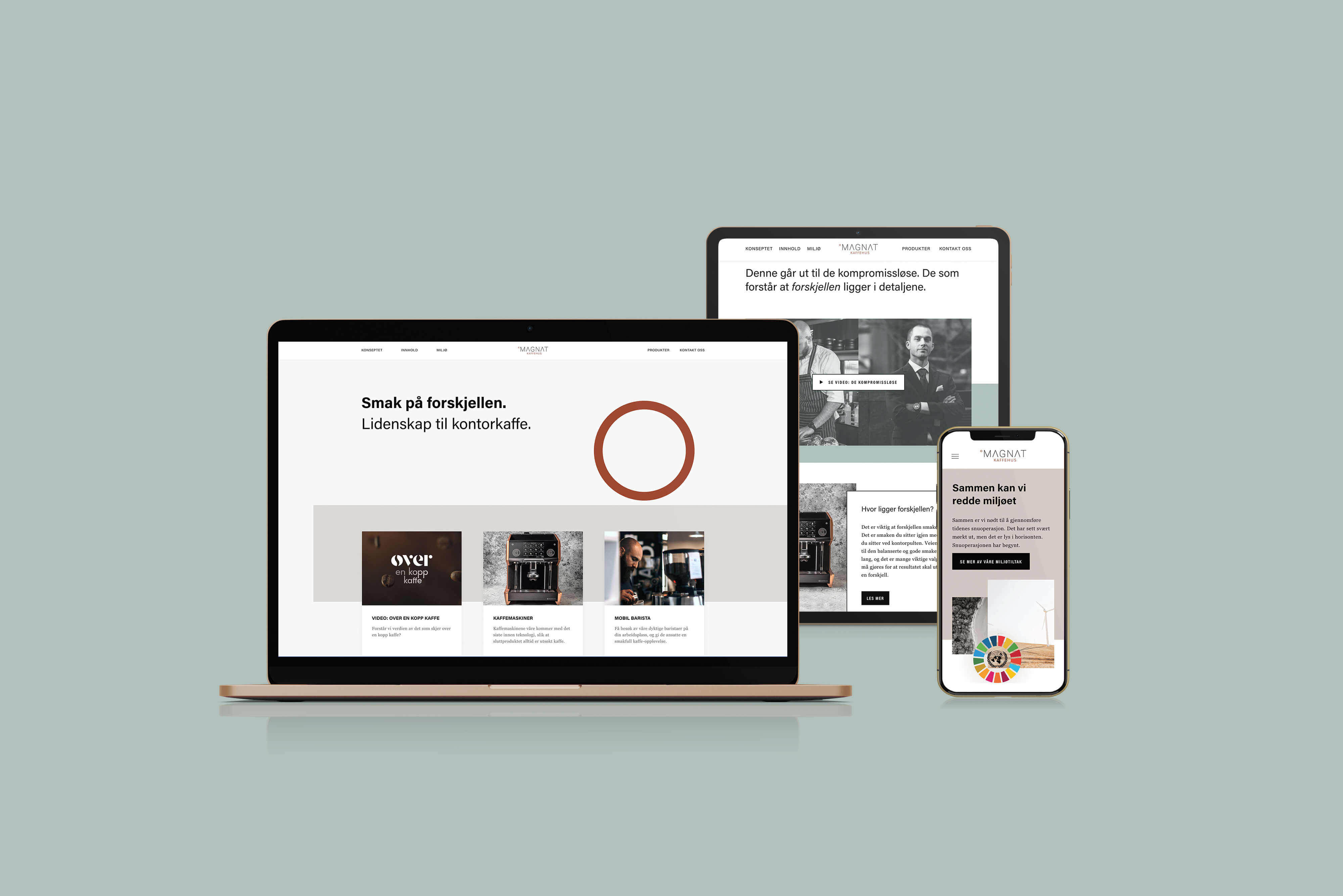 Nettside - Magnat Kaffehus