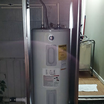 Water heater moved outside by Forthright Plumbing in Tampa, FL
