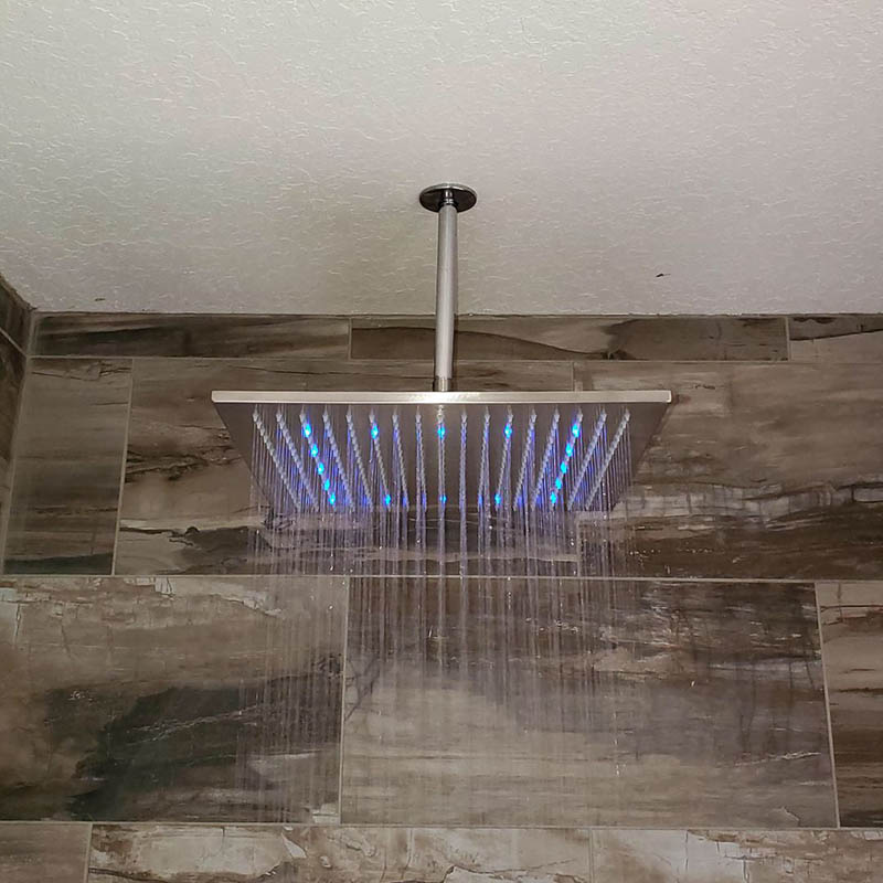 New showerhead replaced by Forthright Plumbing in Tampa, FL