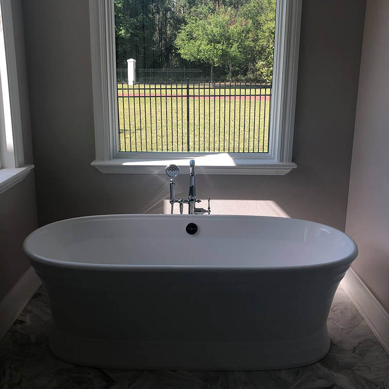Bathroom remodel done by Forthright Plumbing in Tampa, FL