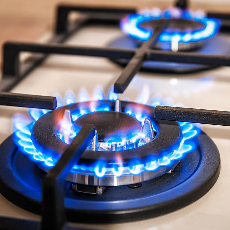 Natural gas kitchen stove