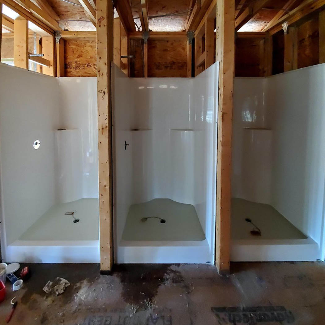 Remodel of commercial bathroom and showers in Tampa, FL