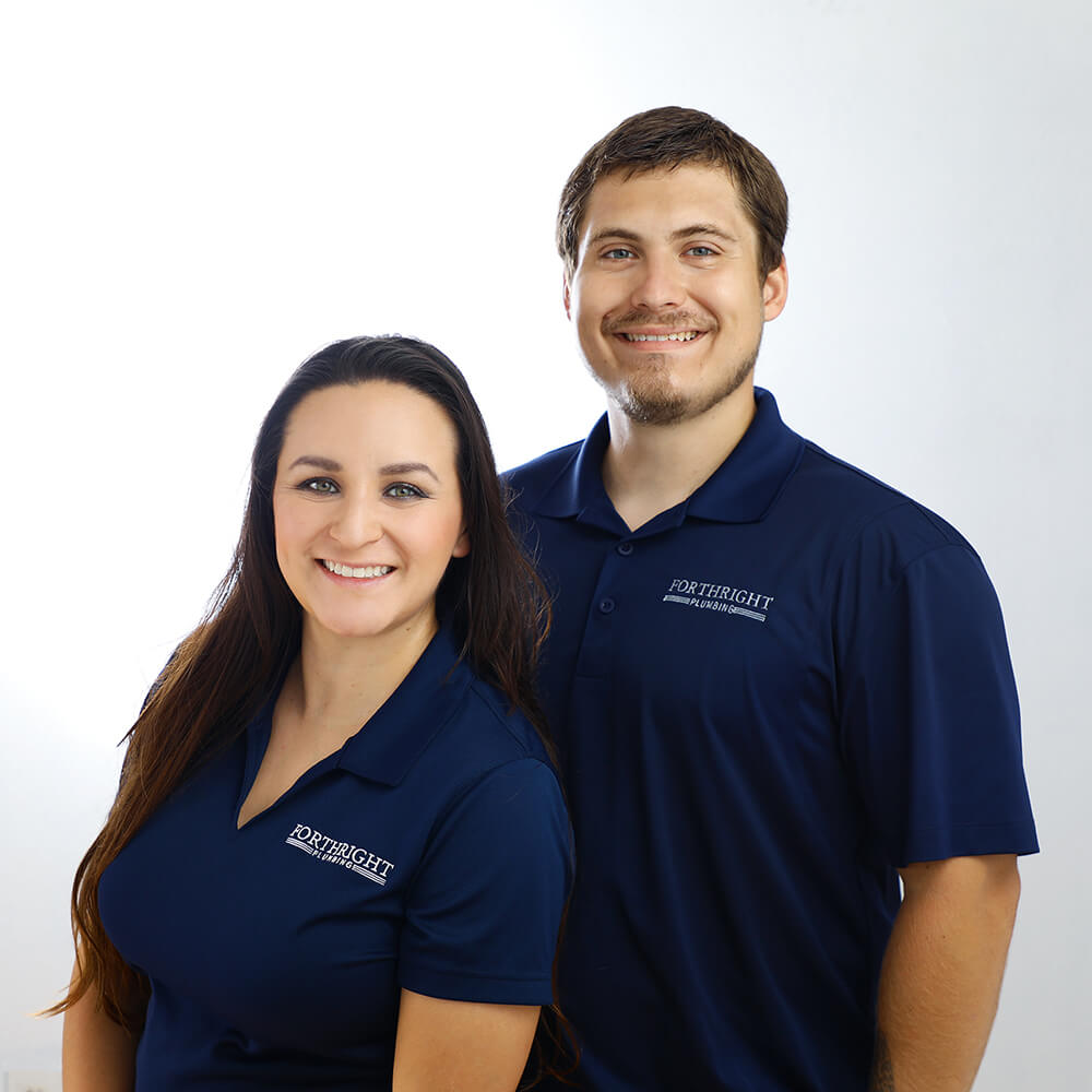 rick and karina cox, owners of forthright plumbing