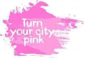 Turn-your-city-pink Farbklecks