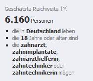 facebook Anzeige Zielgruppen Reichweite Werbung