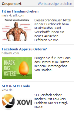 facebook ads Werbung auf Facebook