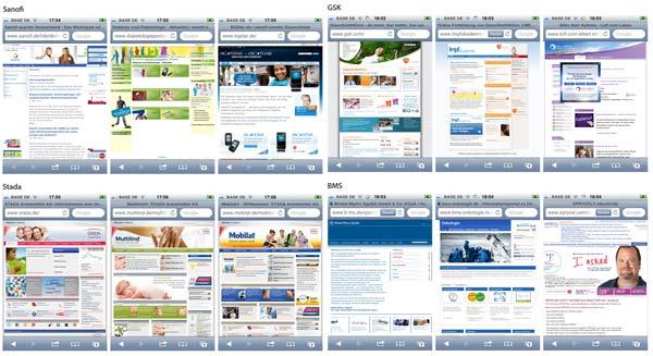Mobile Pharma Webseiten