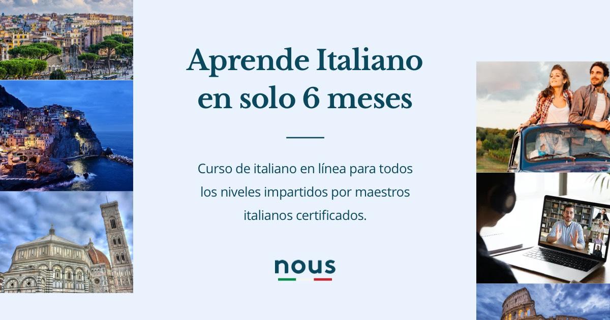 Nous Escuela De Italiano En Linea