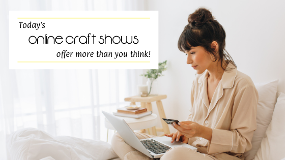 Woman shopping at an online craft show