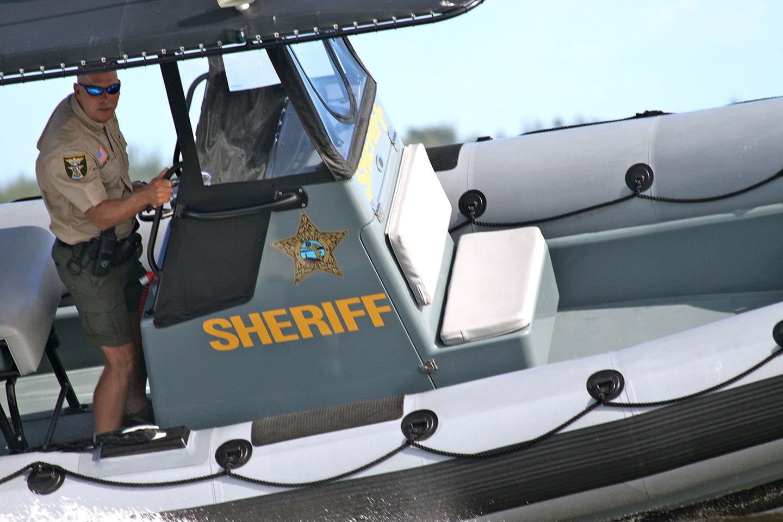 Florida Sheriff on speedboat