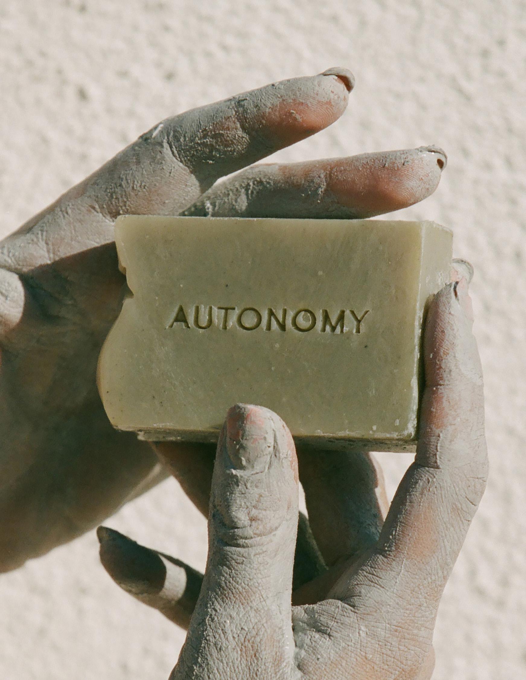 autonomy soap closeup