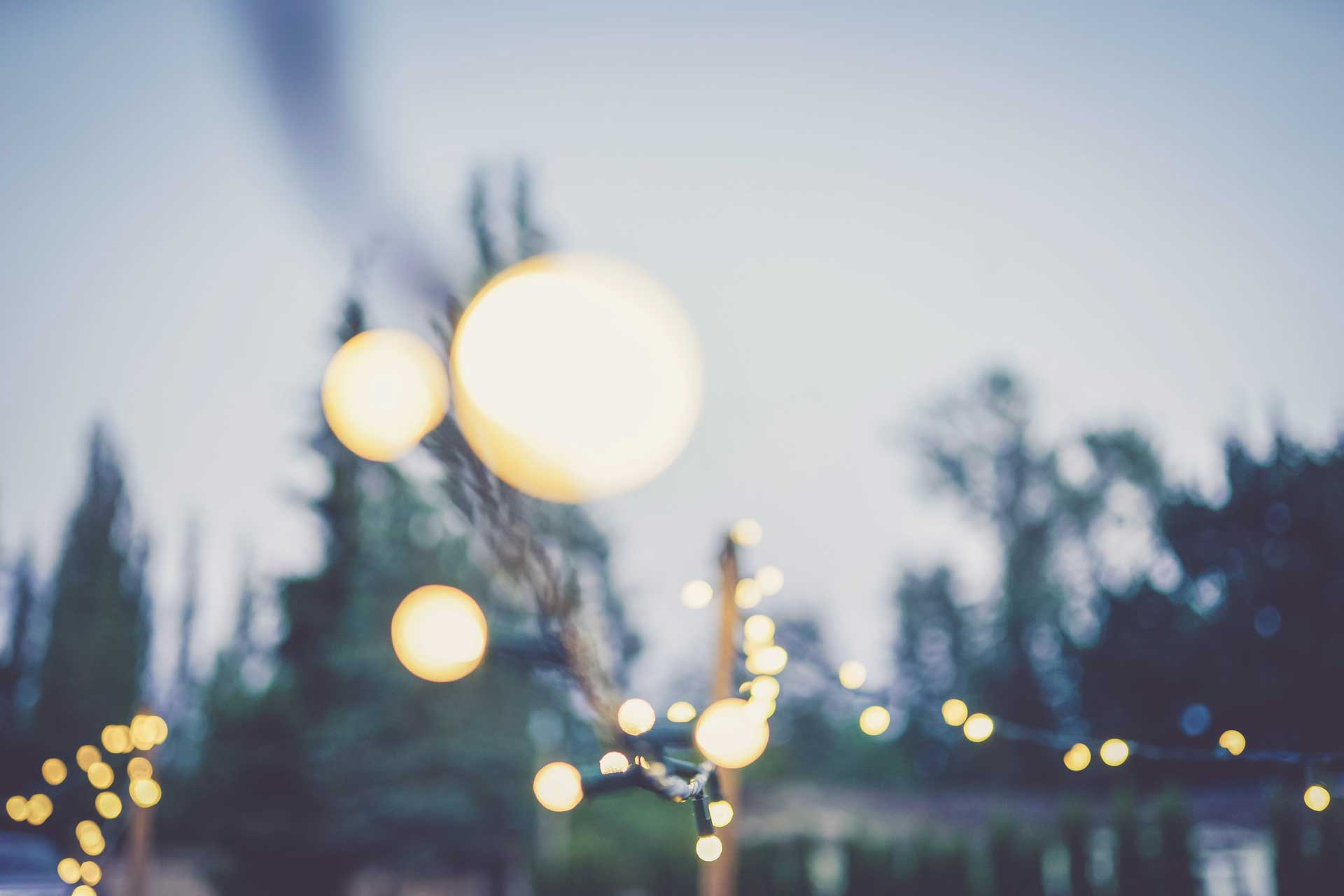 Bokeh effect image of lights in a park