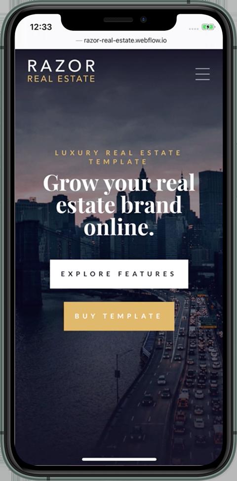 Razor Real Estate Mobile Mockup