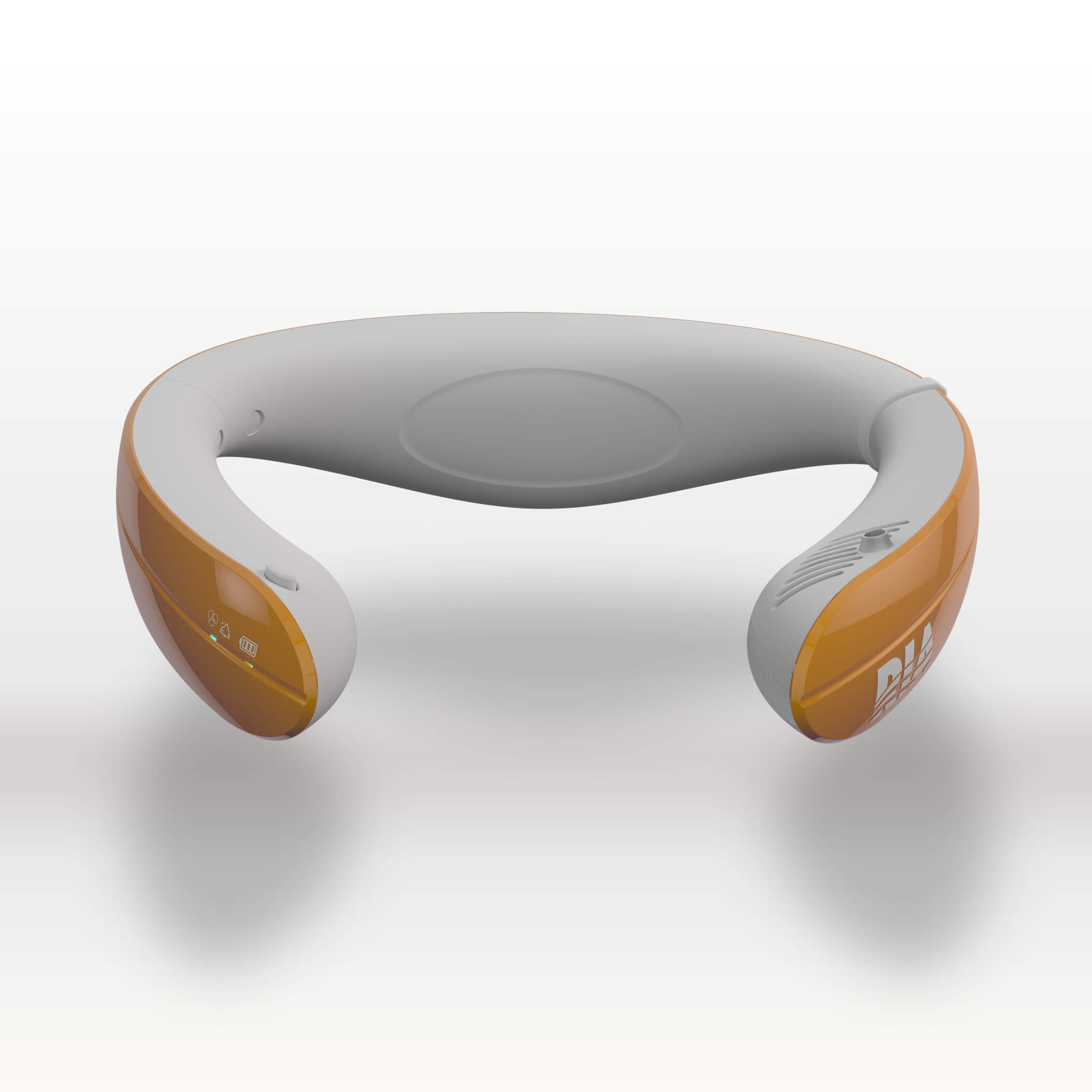RIA with orange outer and white inner band
