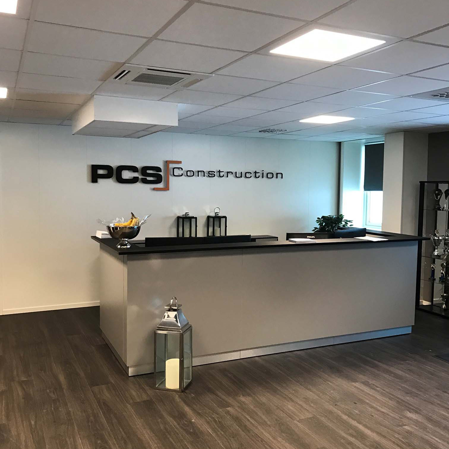 Kontorlokalet til PCS Construction AS