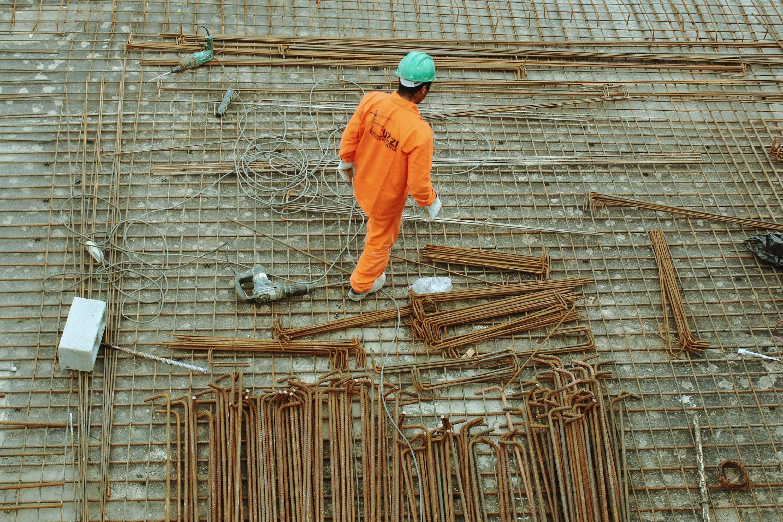 Bild eines Bauarbeiters