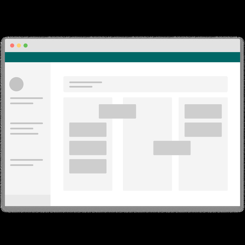 Mockup einer Atlassian Instanz