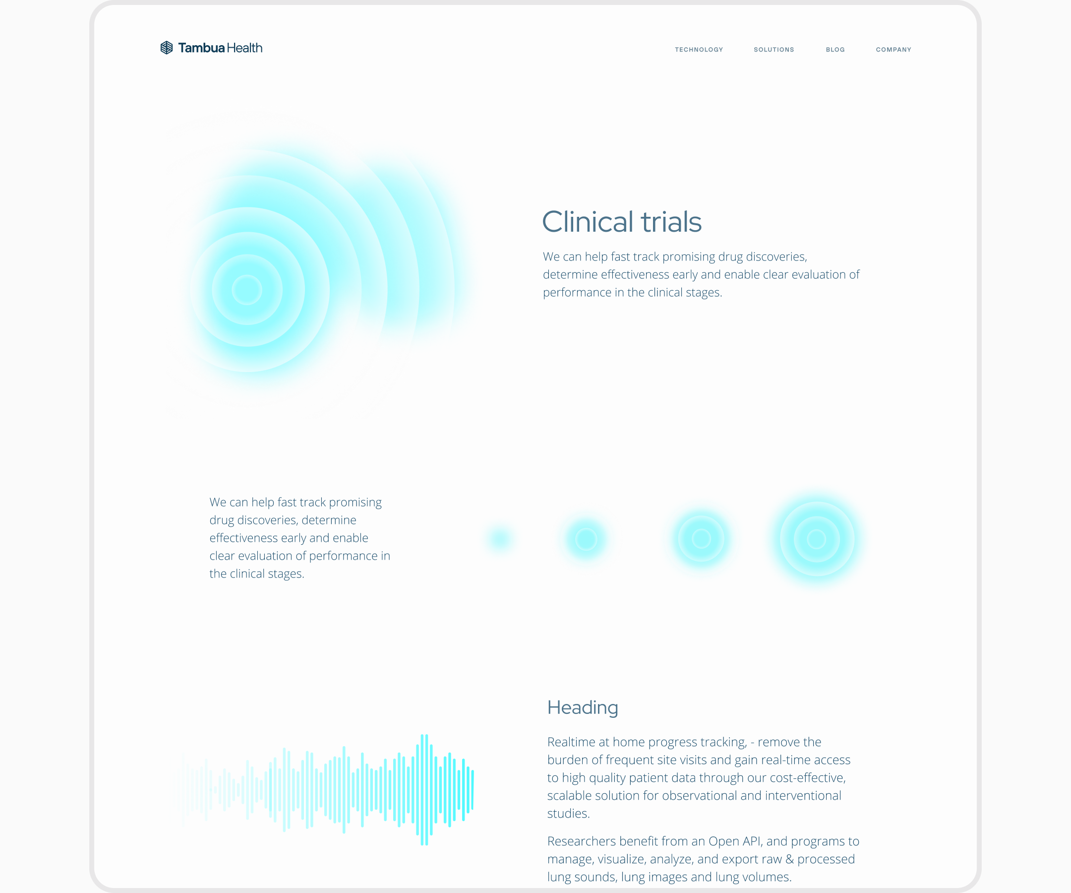 TambuaHealth website by Embacy