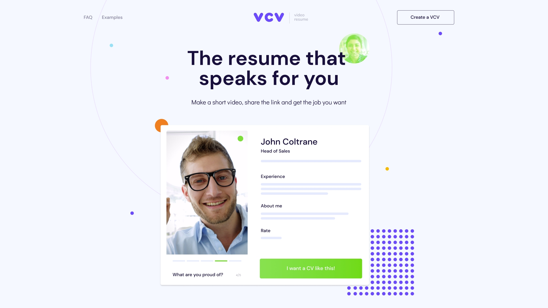 the alternative design for VCV website by Embacy