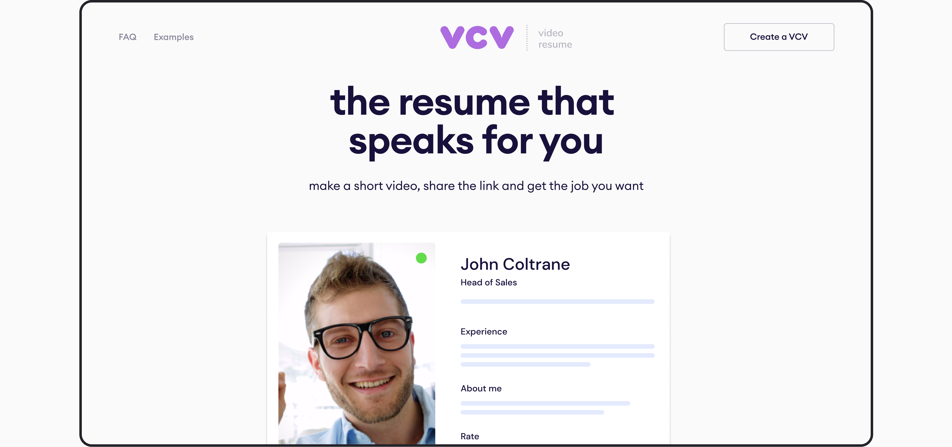 the main page of VCV website by Embacy