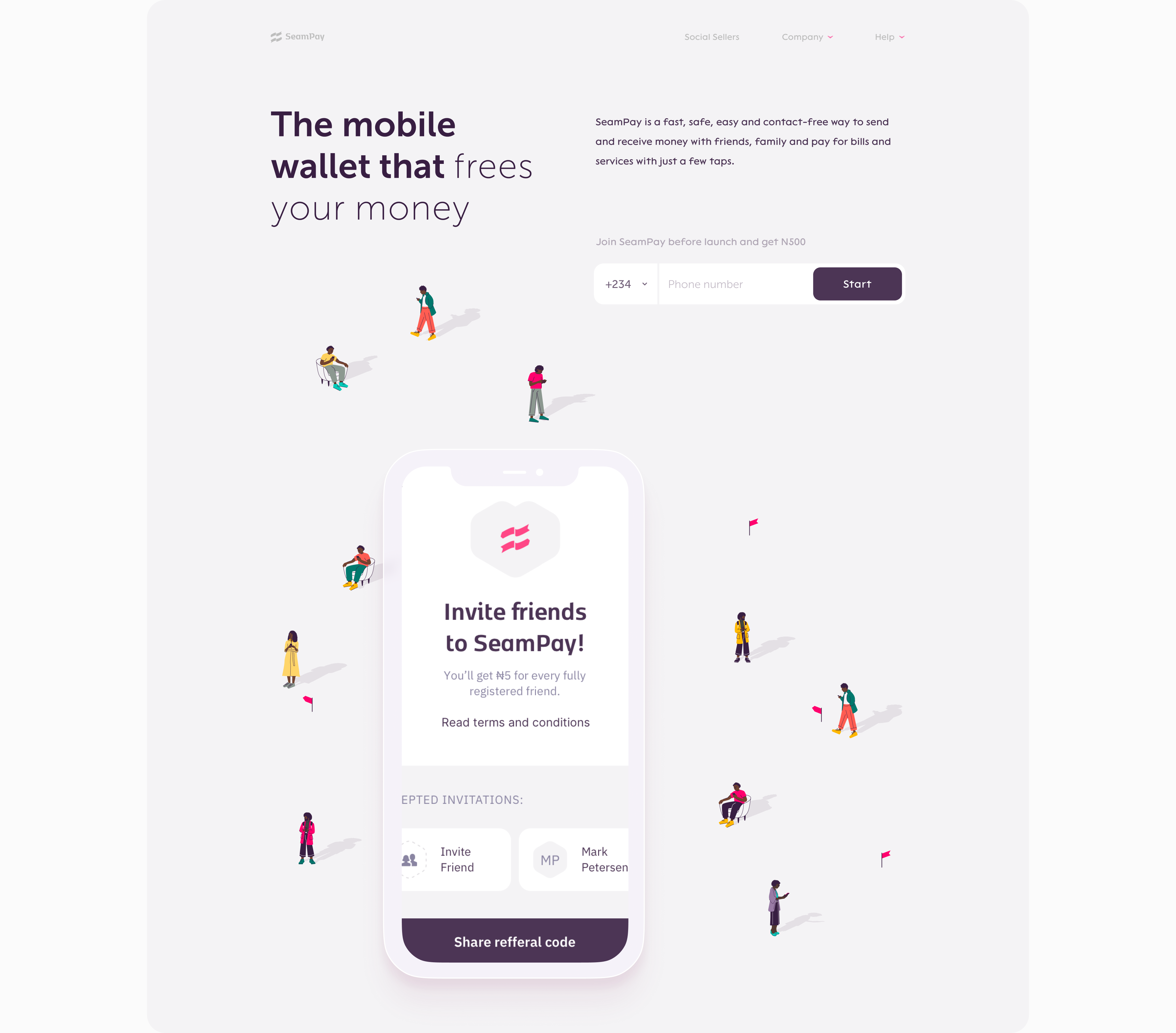SeamPay website by Embacy