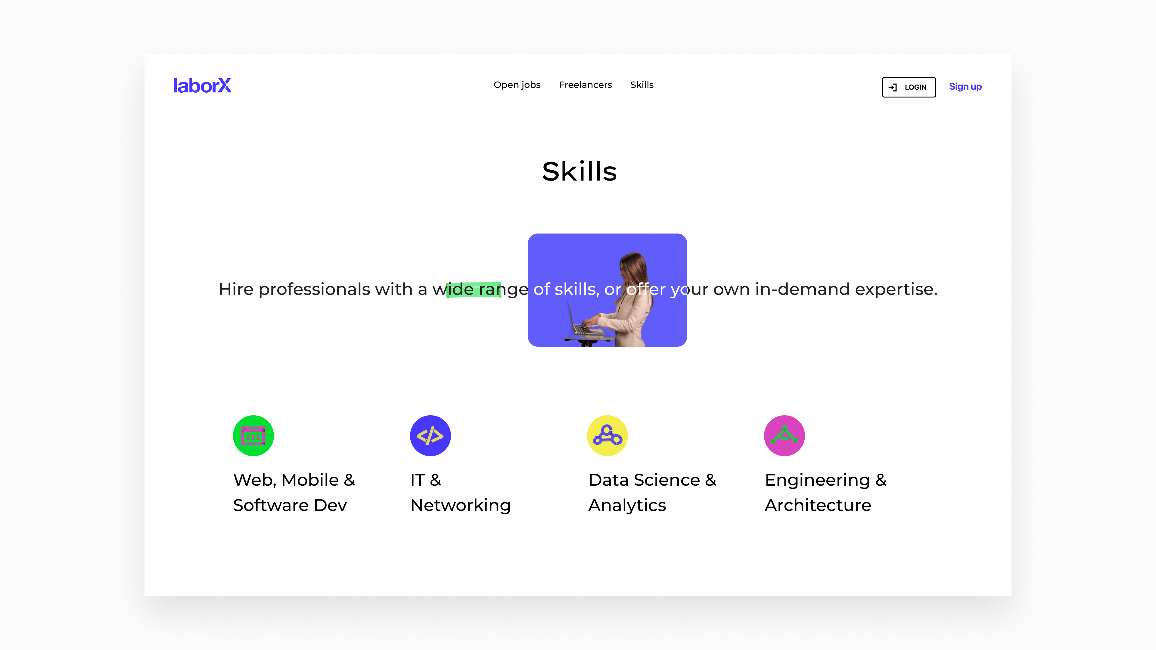LaborX website by Embacy