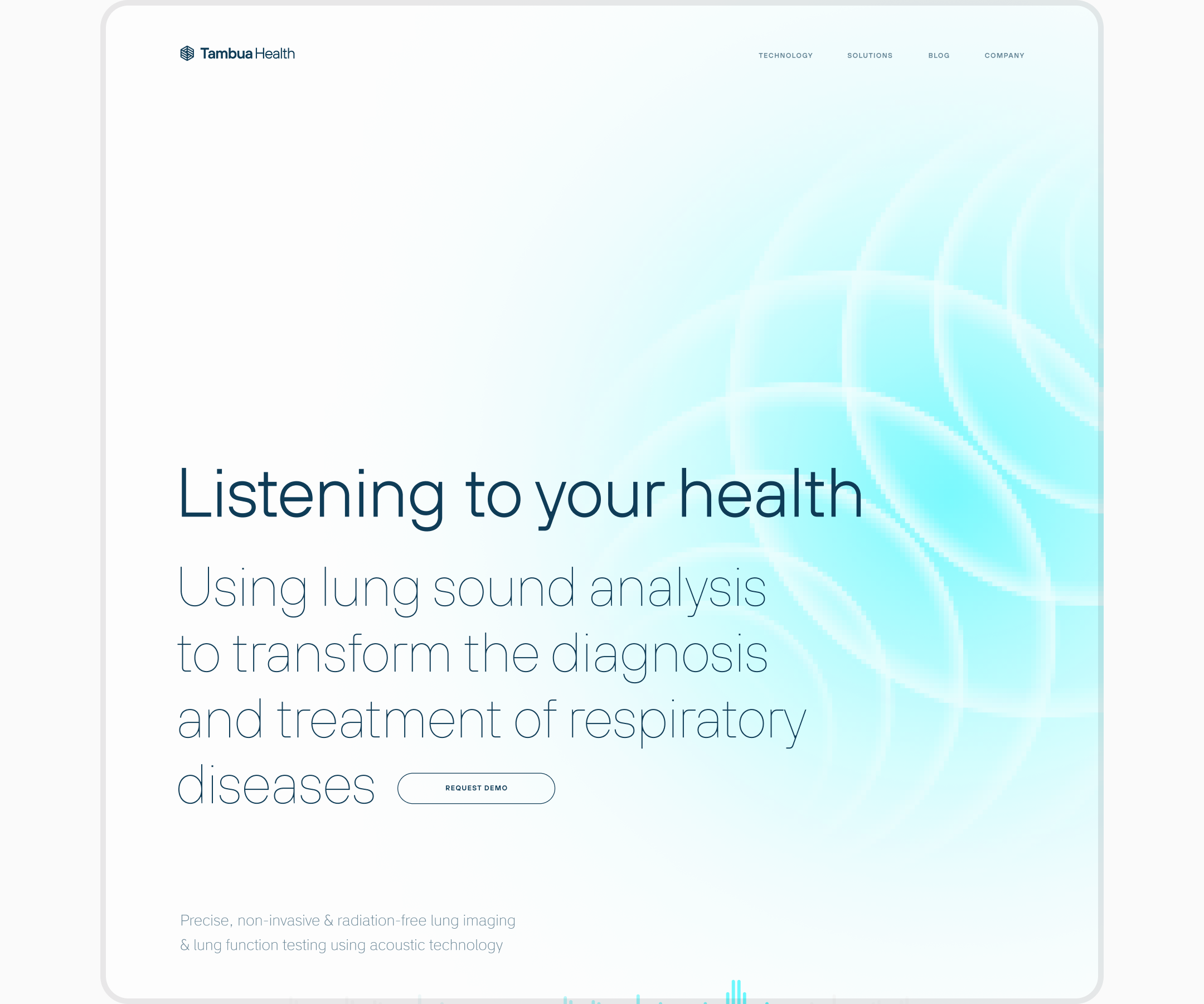 alternative layout for TambuaHealth website by Embacy