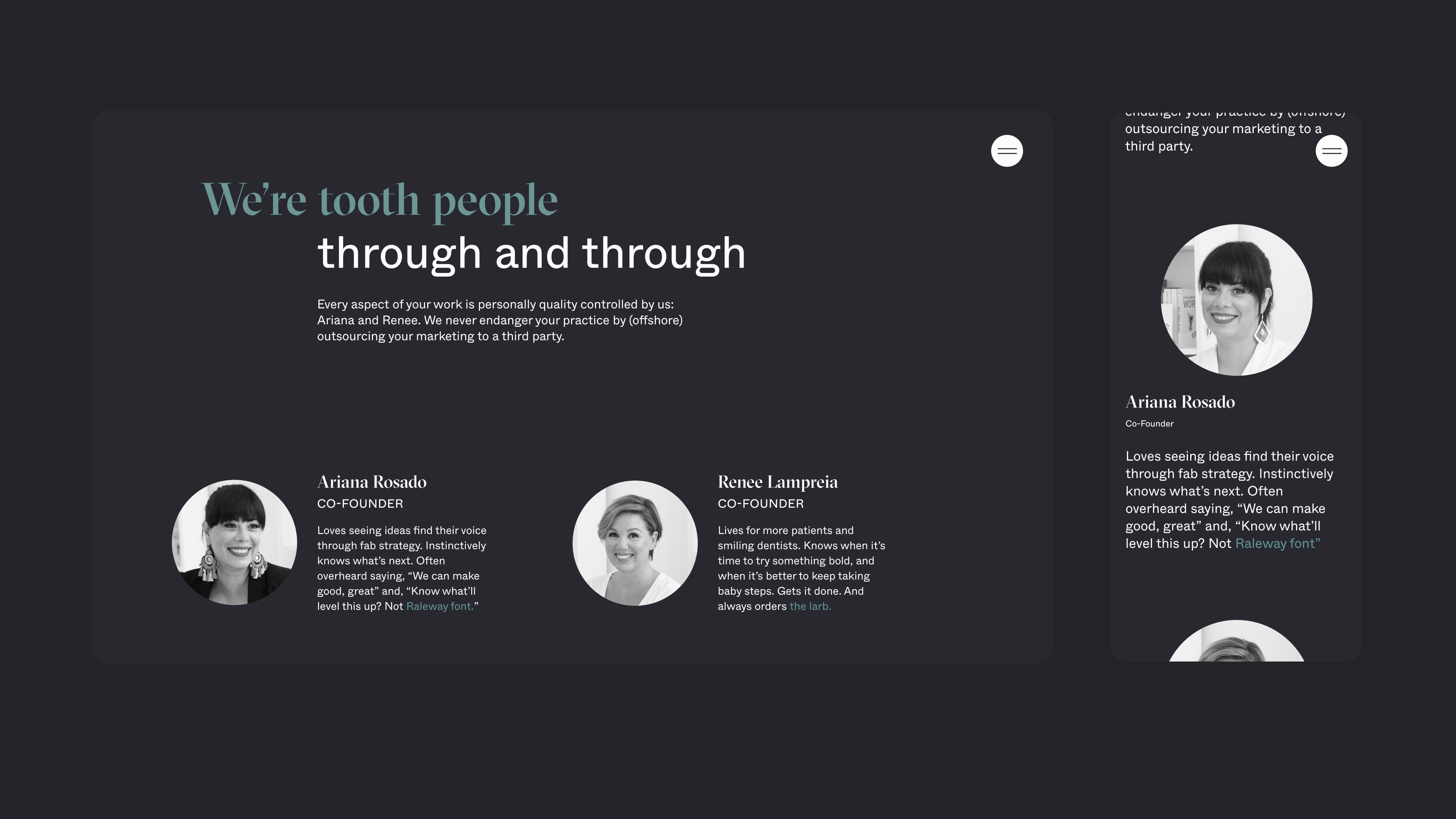 About Us page on Think32 website by Embacy