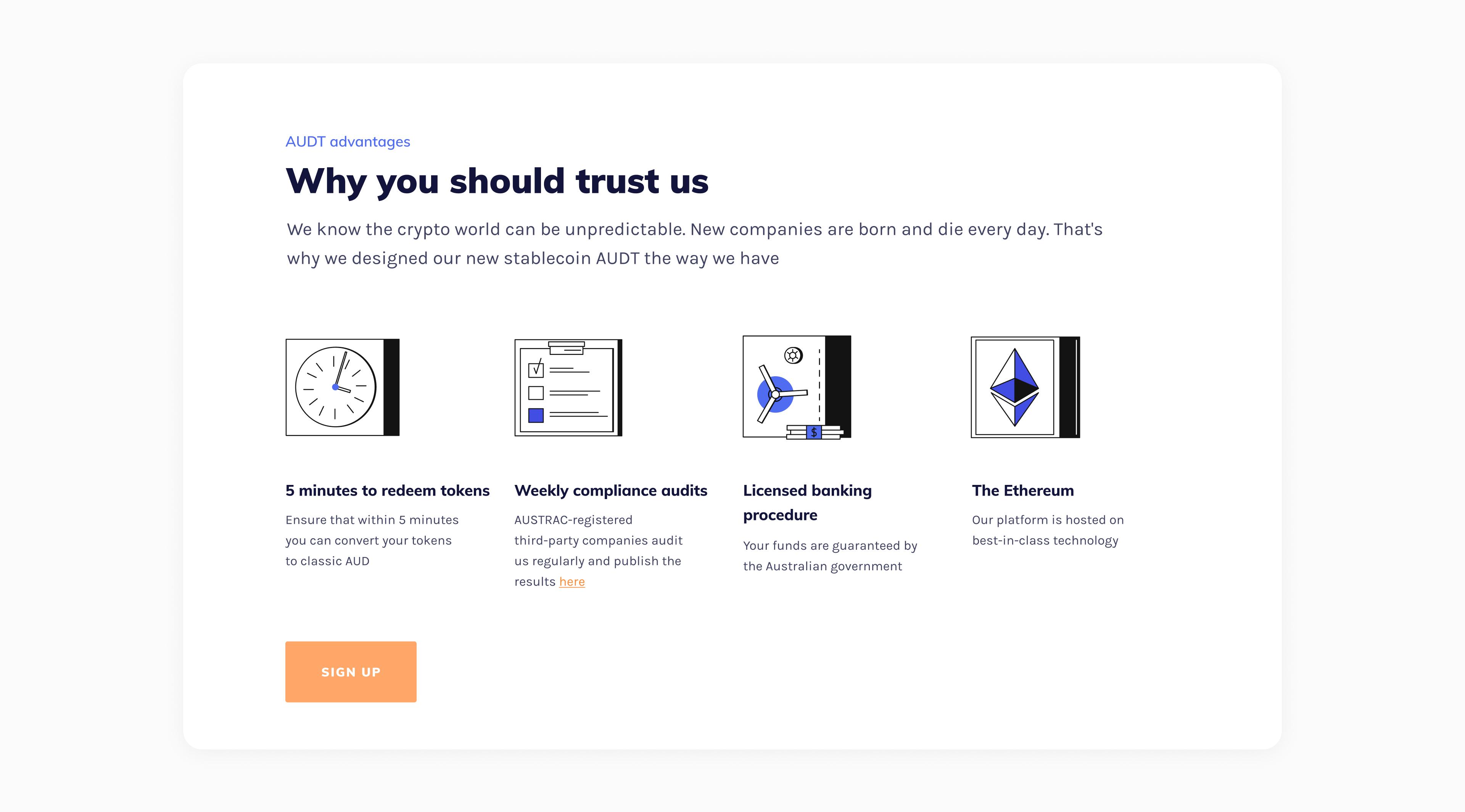 AUDT website by Embacy