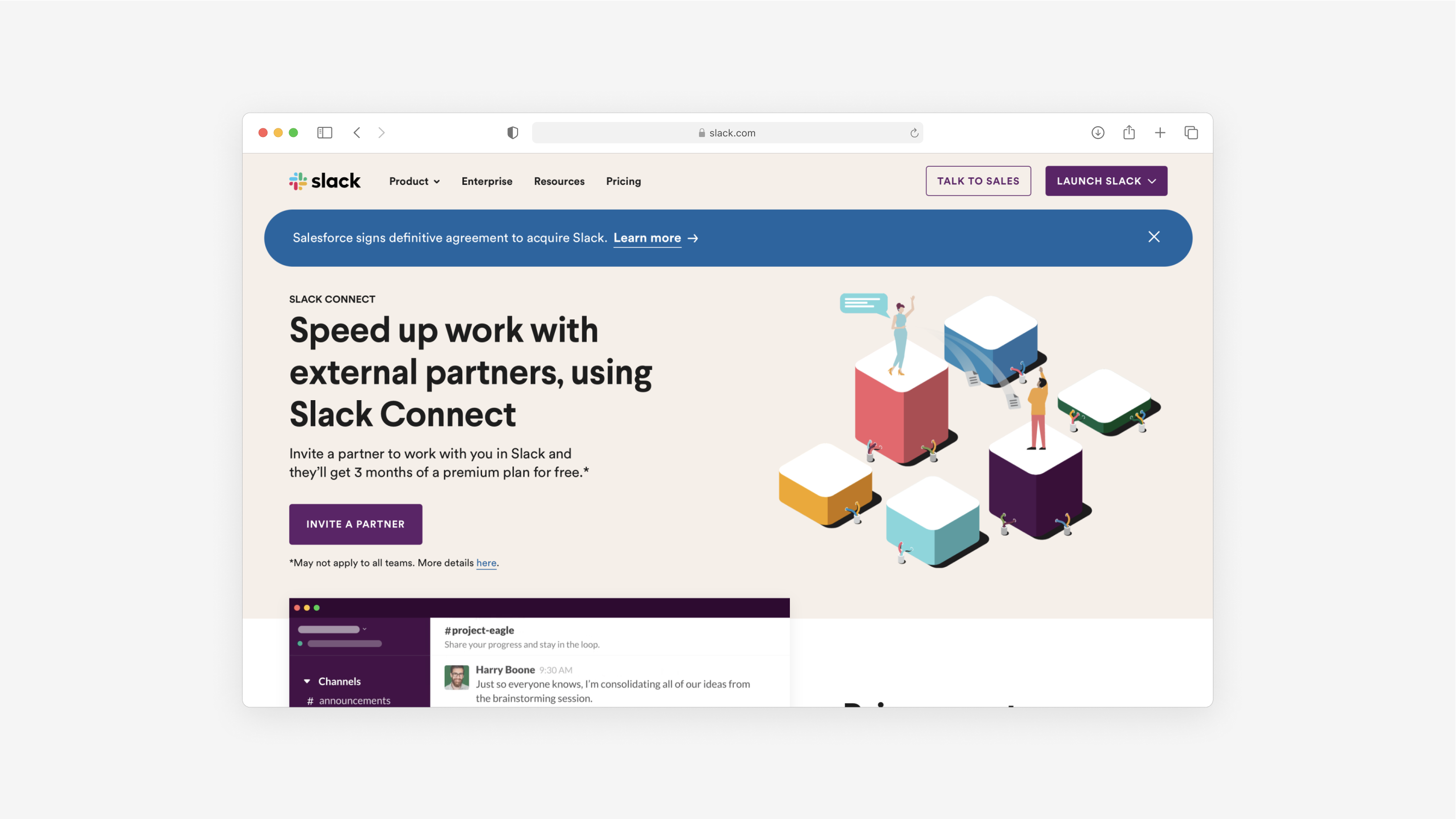 the website for Slack is a great example of a good B2B website
