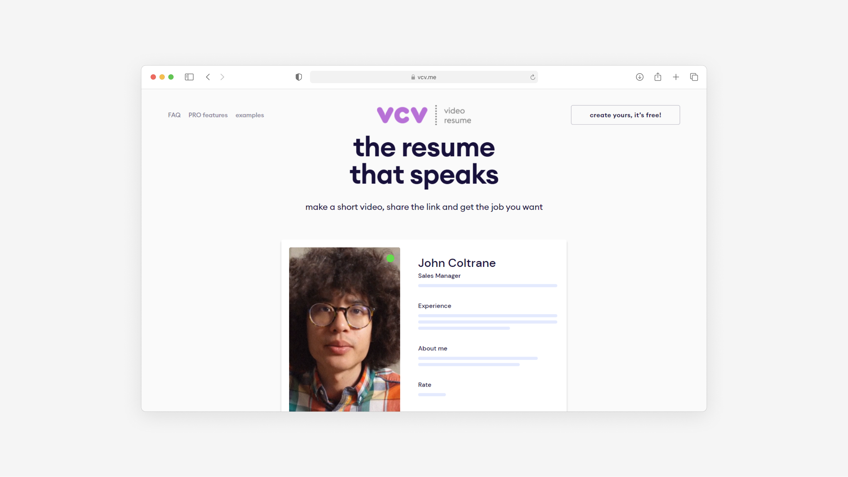 the website for VCV made by Embacy