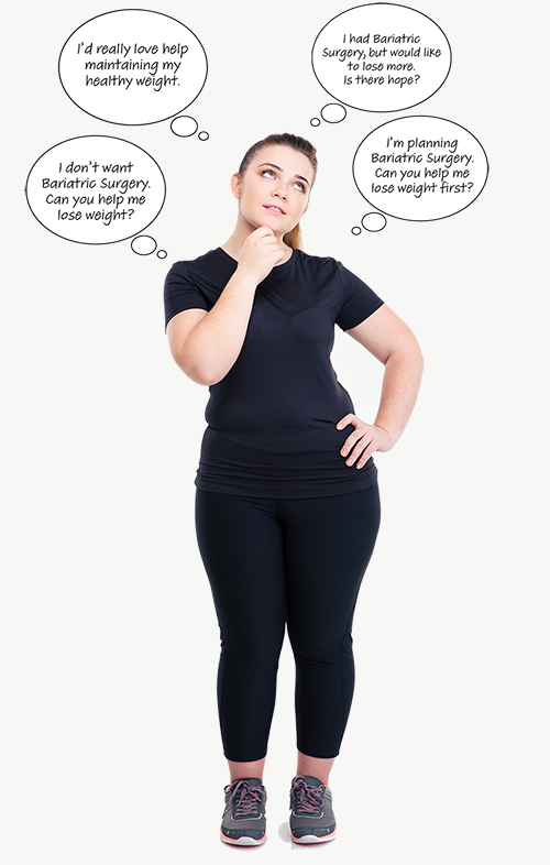 Patient considering options for weight loss management