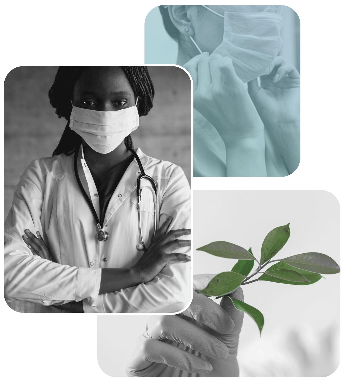 nurse, mask, plant