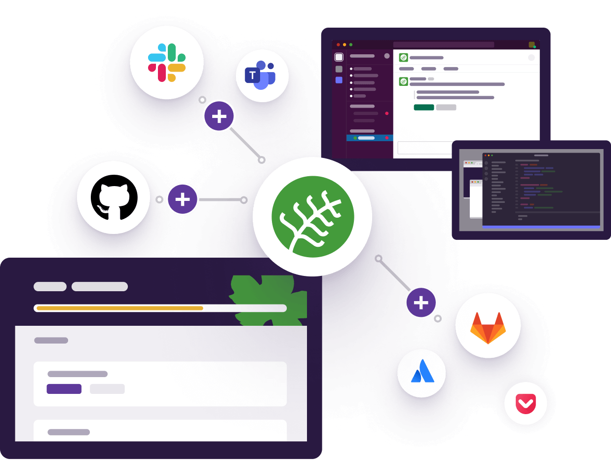 Botany integrated with GitHub, GitLab, Jira, & Slack