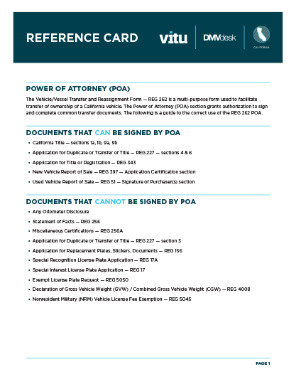 RMP Resource Library - California Reference Card