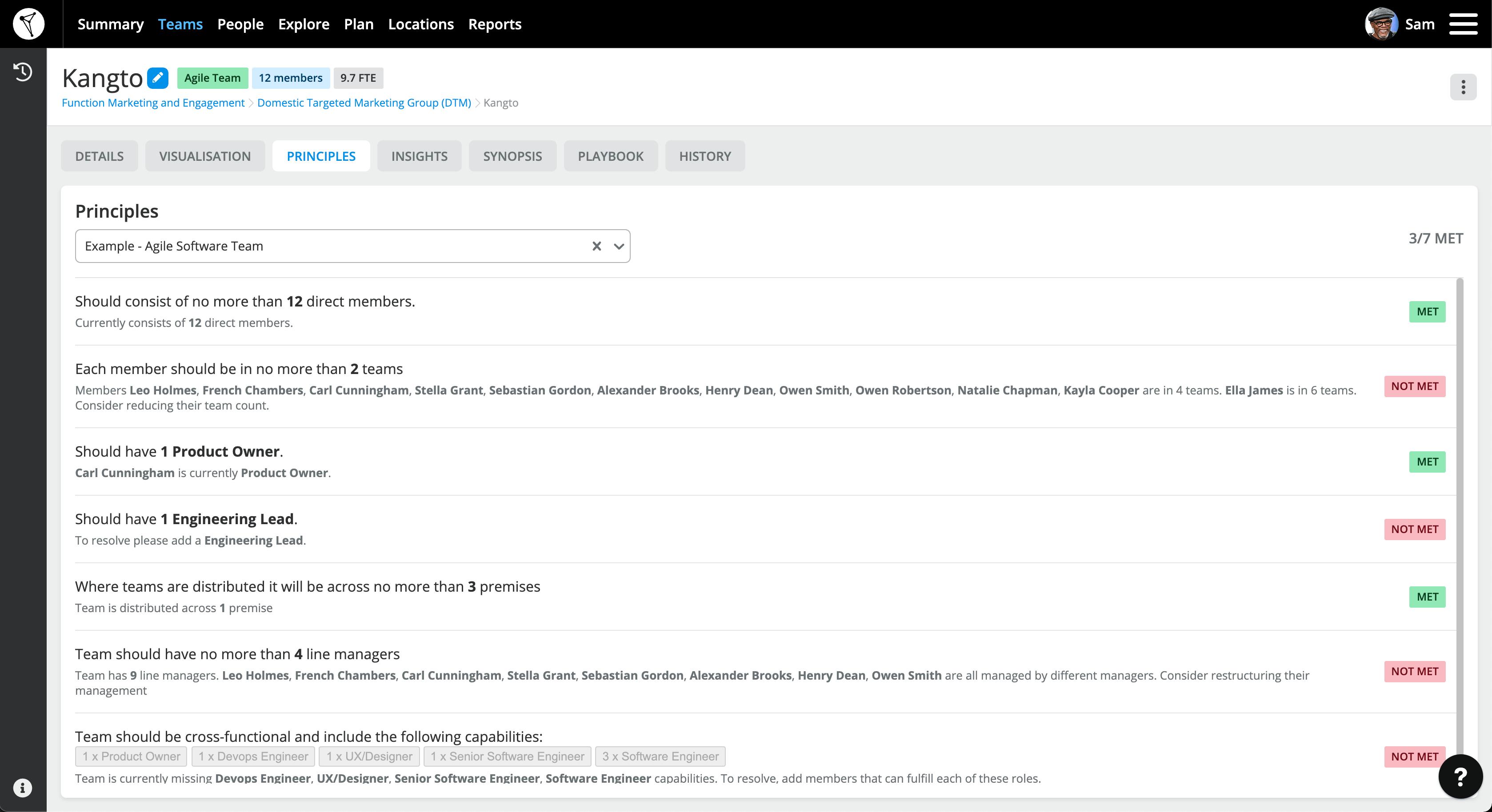 TeamForm Screen transforming teams