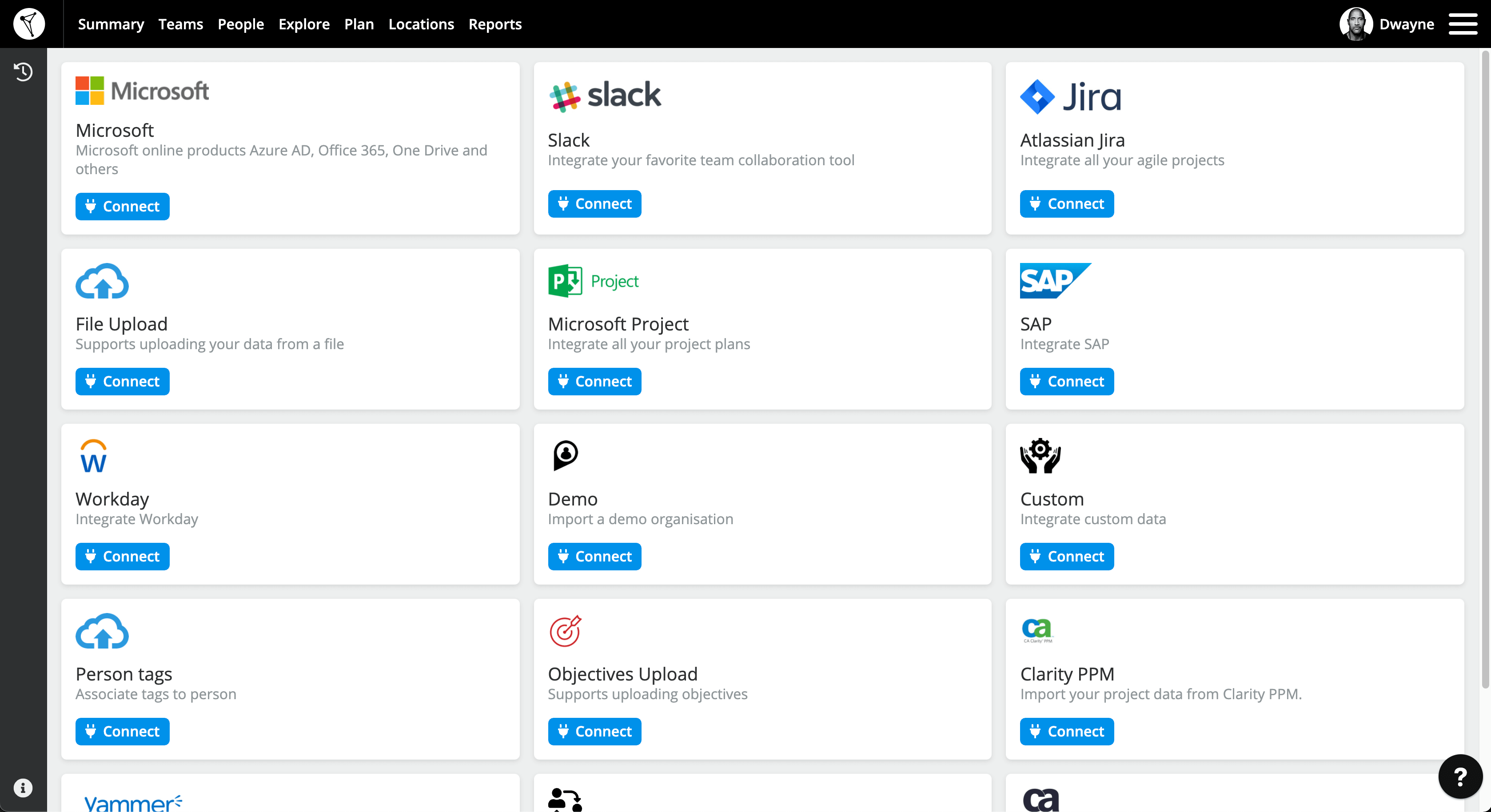TeamForm screen Easy App Integration