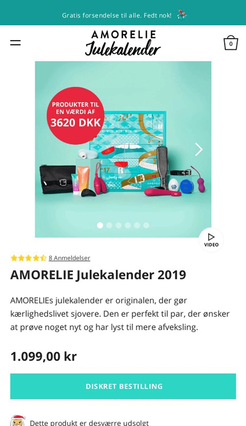 AMORELIE Adventskalender 2019 Scandinavia