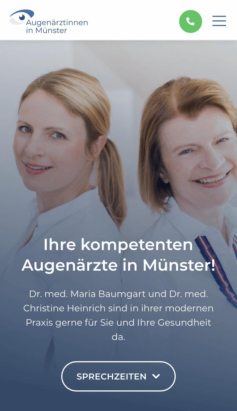 Augenarztpraxis Münster Webdesign & Setup