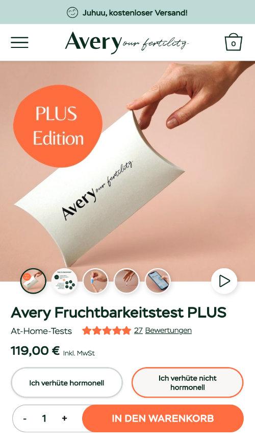 Avery Fertility Website Relaunch
